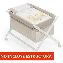 Vestidura Minicuna Tijeras mibebestore Blanco/Lino/Beige (No Incluye Estructura)