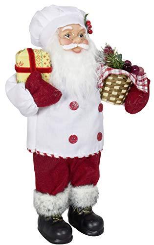Christmas Paradise Weihnachtsmann Santa Nikolaus als Koch mit schönem Gesicht und Vielen Details – Größe ca.30cm