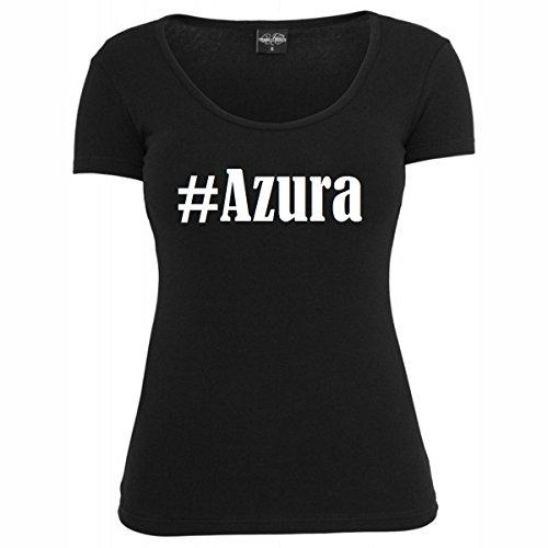 T-Shirt #Azura Hashtag Raute für Damen Herren und Kinder ... in den Farben Schwarz und Weiss Schwarz