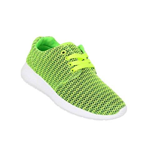Damen Schuhe Freizeitschuhe Sneaker Slipper Grün
