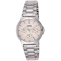 Casio Watch For Women Pink Dial Stainless Steel Band - LTP-V300D-4AUDF