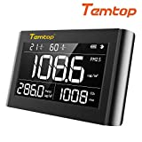 Temtop P1000 Air Quality Monitor for PM2.5 PM10 CO2 Temperature Humidity Indoor Detector