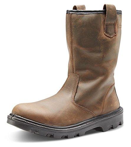 B-Click Footwear, Scarpe antinfortunistiche uomo Marrone marrone Marrone