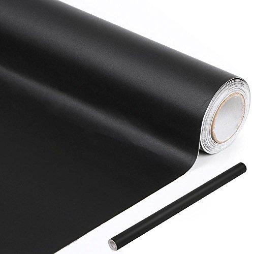Yahee Kreidetafel Wand-Aufkleber Selbstklebende Folie Klebefolie DIY 60 x 300cm Schwarz
