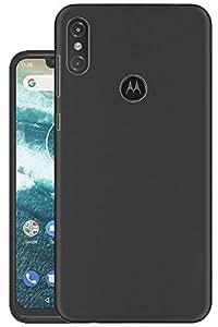 Hello Zone Exclusive Matte Finish Soft Back Case Cover for Motorola Moto One Power - Black