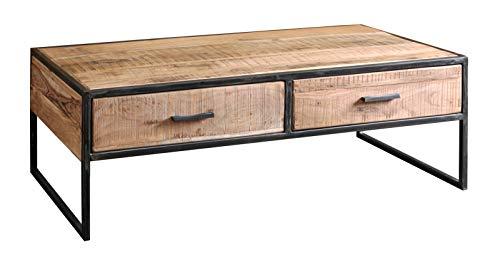120 cm Meuble et métal Urban Basse métal Bois Massif Table TlKJ5cF3u1