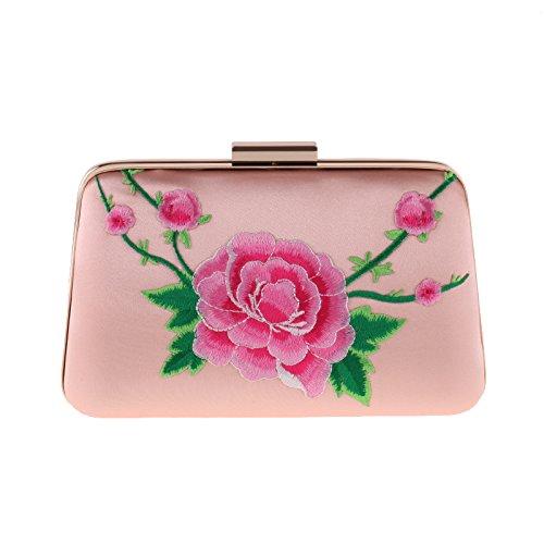 OME&QIUMEI Handtasche'S Dinner Tasche Frauen Hand Tasche Kleine Quadratische Tasche Tasche Aus Polyester Pink