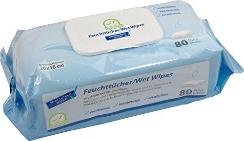 Feuchttücher / Wet Wipes 20 x 18 cm Medi-Inn parfüm- & parabenfrei PH-neutral versch. Mengen (16 Packungen (1280 Tücher)) - Medi-packungen
