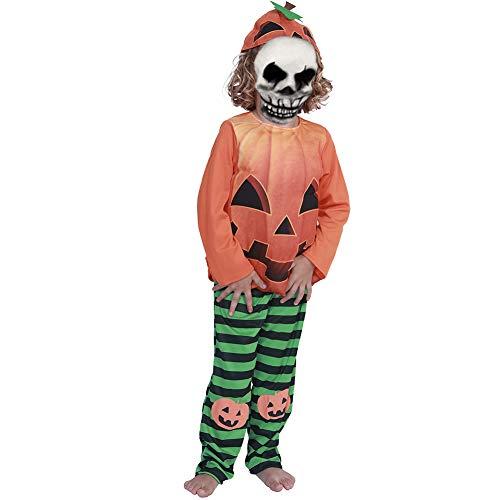 Halloween kostüm S.CHARMA Kostüme für Erwachsene Cosplay Unheimlich Kleidung Halloween-Set Performance-Kostüm Schwarze Kürbis Kind