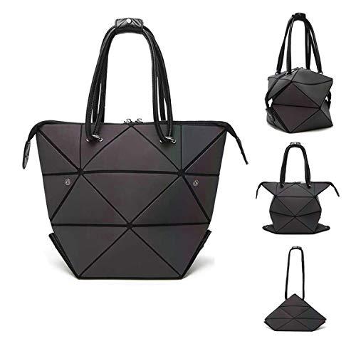 Parnerme Mode Geometrische Veränderbare Tasche leuchtenden Handtasche tägliche Arbeit Tote Schultertasche große Einkaufstasche holographische Handtasche für Frauen (colorful-1) -