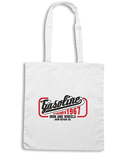 T-Shirtshock - Borsa Shopping TB0335 motorcycle Bianco