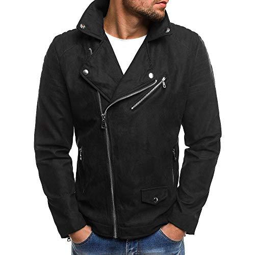 Perfecto en Daim Suède Homme,Overdose Hiver Blouson Motard Soldes Vestes Casual Outwear Faux Leather Jack