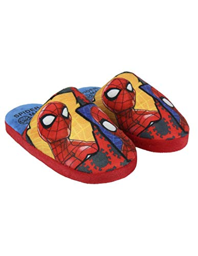 Hausschuhe Kinder Jungen Spider-Man rot von 26 bis 33, Rot - rot - Größe: 28/29 EU