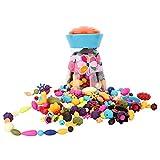 Zooawa Pop Snap Beads Set, DIY Jewelry Creative Kits for Girls Making Necklace
