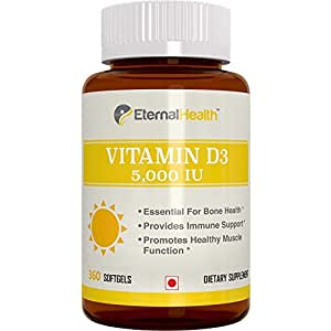 Eternalhealth Vitamin D 5000 Iu - 360 Softgels (Vitamin D3 - Cholecalciferol)