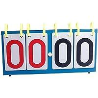 MOOUK - Tavoletta segnapunti Portatile, con 4 spartiti, per pallavolo, Basket, Tennis, Calcio, Blue