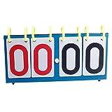 Qind 4Ziffer Sports Anzeigetafel, Tragbar Ziffer Flip Tisch Tennis Score Board Sport Anzeigetafel, für Volleyball Basketball Fußball Tischtennis-Set Score