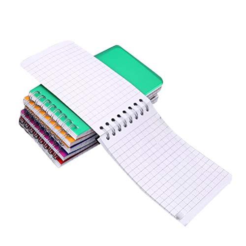 YeahiBaby Notizblock, klein, Spule mit Stein, tragbar, Wochenplaner, 6 Stück, verschiedene Farben (Top-spirale Gebunden Notebook)