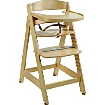 roba 7566 Sit Up Maxi - Trona (tamaño extra-grande, con correa de sujeción, peldaño de seguridad y bandeja extraíble)