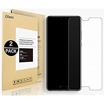 Verre trempé Huawei Honor 10, Voigeer [Ultra Thin 9H Dureté] [2 Pack] Huawei Honor 10 Film Protection en Verre trempé écran protecteur ultra résistant Glass Screen Protector pour Huawei Honor 10