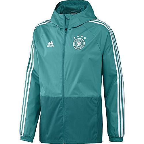adidas Herren DFB RAIN JKT Regenjacke, EQT Green/White, L
