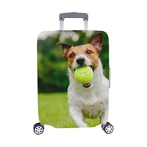 (Nur abdecken) Happy Pet Dog Ball auf Staubschutz Trolley Protector case Reise Gepäck Schutz Koffer Abdeckung 28,5 X 20,5 Zoll -