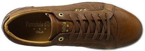 Pantofola d'Oro Canaverse Uomo Low, chaussons d'intérieur homme Marron écaille de tortue