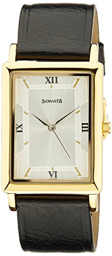 Sonata 77003YL02A Silver Dial Men's Analog Watch image