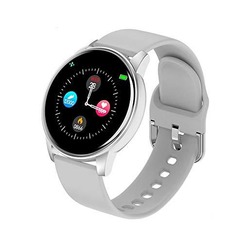 GaoWuJie Neue Art und Weise vorzügliches Geschenk Männer Frauen Smart-Armband LED-Farben-Voll Touch Screen Mode Sport Smart Watch Herzfrequenz Blutdruck Fitness-Armband (Color : Gray)