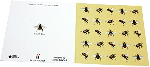 re-wrapped-Bienen-1umweltfreundlich recyceltem Grußkarte Geburtstag Karte mit Umschlag-von UK Designer Sophie BOTSFORD (Designer-geburtstag Karten)