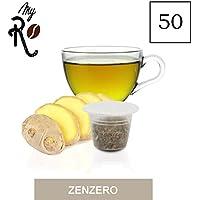 50 Cápsulas de Tisana compatibles Nespresso sabor Tisana Jengibre y Limón, 50 Cápsulas compatibles con mqáuinas Nespresso, Paquete de 5x10 por un total de 50 Cápsulas, 50 cápsulas tisana, MyRistretto