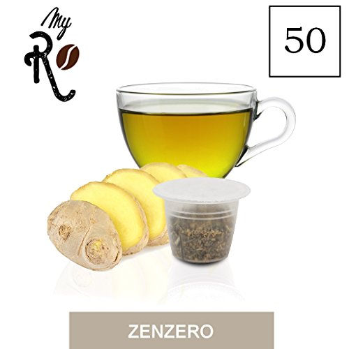 FRHOME - 50 Cápsulas de Tisana compatibles Nespresso - Tisana Jengibre y Limón - MyRistretto
