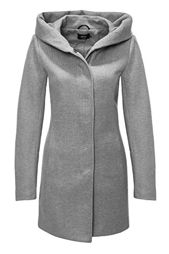 ONLY NOS Damen Mantel Onlsedona Light Coat Otw Noos, Rot (Chocolate Truffle Detail:Melange), 40 (L) (Damen Mäntel)