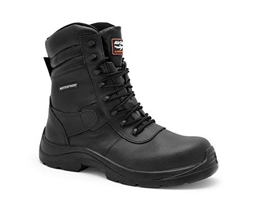 AirSafe as-c8 impermeabile composito Combat Stivali di sicurezza, nero (Black),