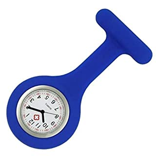 Silicon Nurses Fob Watch (batteries included) (Navy Blue)