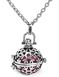Sansar India Aromatherapy Essential Oil Diffuser Perfumer Pendant Necklace For Girls And Women