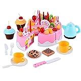 SSITG 54 Stück Kinderspielzeug Spielküche Puppengeschirr Küche Zubehör Kleinkinder