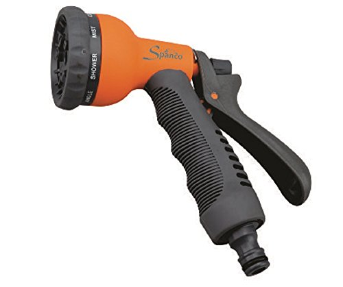 Falcon Spanco Plastic 8-Pattern Water Gun (Micro Hand Sprinkler) (Multicolour)