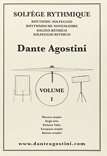 AGOSTINI AGOSTINI - SOLFEGE RYTHMIQUE VOL.1 : MESURES SIMPLES Educational books Drum set