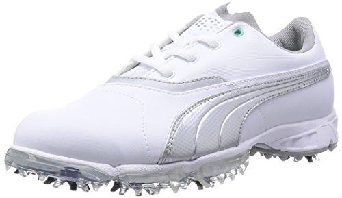 Puma BioPro Damen Golfschuh weiß-silver metallic - 38