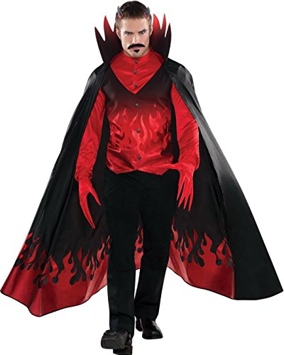 Hochwertiges Kostüm Diablo/Teufel, Mehrfarbig, Größe L (Teufel Kostüm Frisuren)