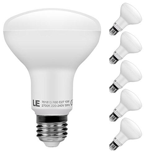 LE Lampadine LED E27, 5 Pezzi 10W 810lm 2700K R80 Luce Bianca Calda