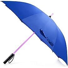 bestkee ombrelli da Golf Ombrello Spada laser–Spada laser con luce a LED con 7colori cangianti sul manico/costruito in torcia a fondo, Blue