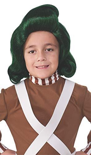Rubie's - Offizielle Perücke eines Oompa Loompa in Charly und die Schokoladenfabrik, Kinder, Faschingskostüm, - Oompa Loompa Kostüm Kinder