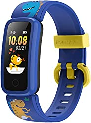BIGGERFIVE Orologio Fitness Tracker Bambino Bambina Donna, Contapassi Smartwatch con Cardiofrequenzimetro da P