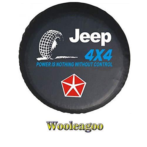 AERZETIX Funda de rueda de repuesto Negra para auto coche vehiculos 4x4 caravana camping car para talla 185//65R15
