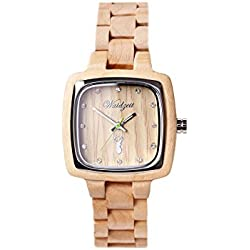 The Time Women's Watch Wood Impression Pioneer IP03