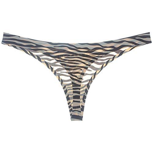 Xmiral Donna Perizomi con Pizzo Sexy String Slip Perizoma Mutande Tanga in Sexy per Donne M Grigio