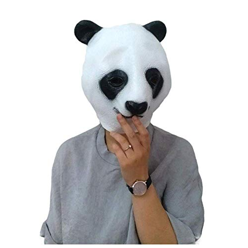 esische Riesenpanda Maske Erwachsene Cosplay Latex Tierkopf Set Kung Fu Panda Prop Kind Panda Kopf ()