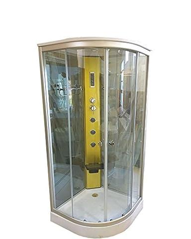 CABINE DE DOUCHE HYDROMASSANTE Model Hollywood 100 x 100 cm